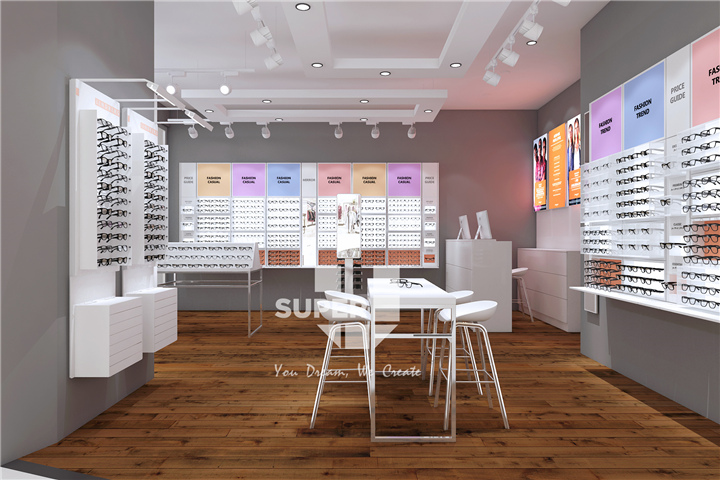 Modern Optical Modular Furniture Design Eyewear Store Interior